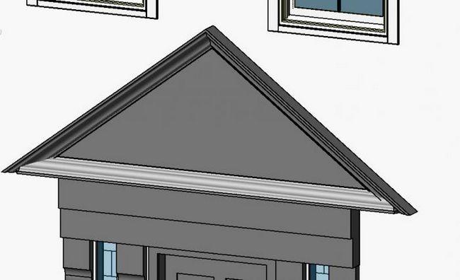 Фронтон двосхилим даху. Розрахунок, пристрій, варіанти обробки