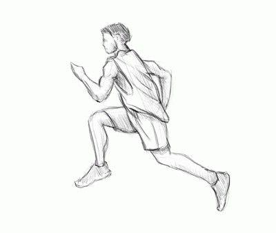 Як малювати людей в русі? Кілька прикладів