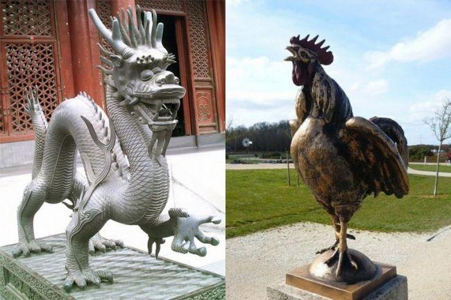 Східний гороскоп сумісності: півень і дракон