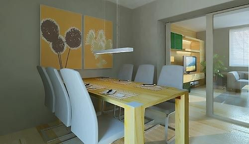 Їдальня вітальня дизайн